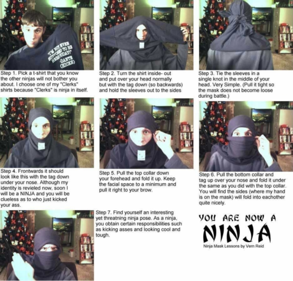 Shirt Ninja  How to make a Ninja Shirt !