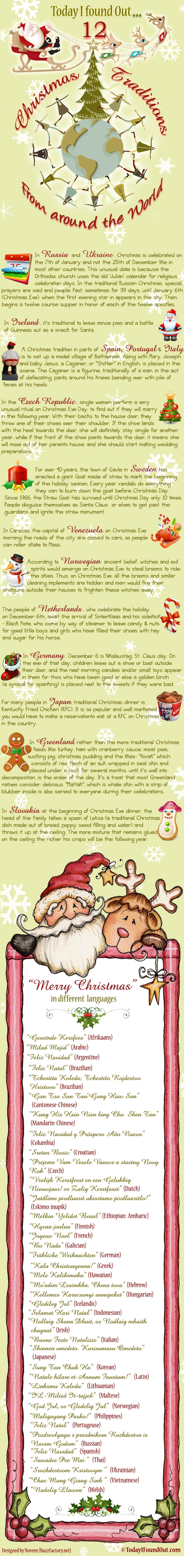 12 Christmas Traditions  12 Crazy Christmas Traditions