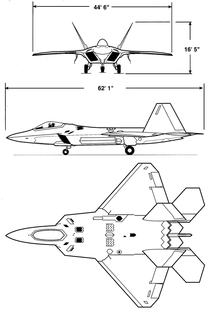 f 22 raptor coloring pages - photo #18