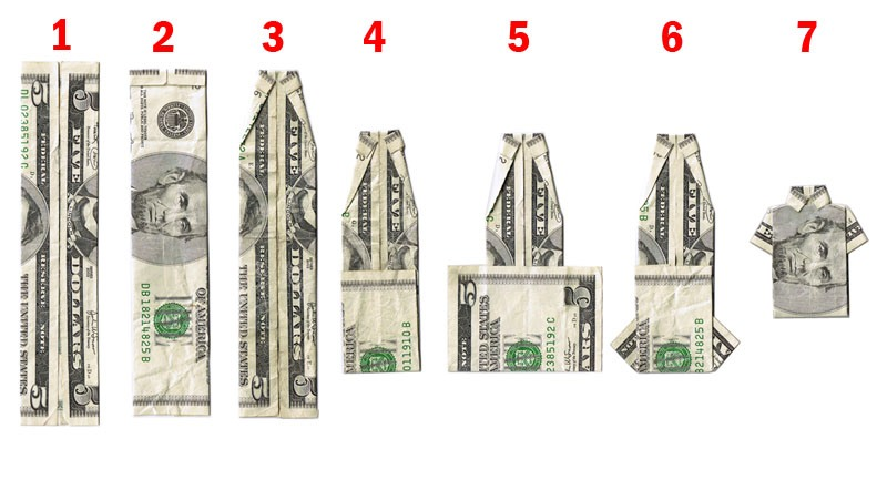 Create your own dollar shirt with this simple easy steps.