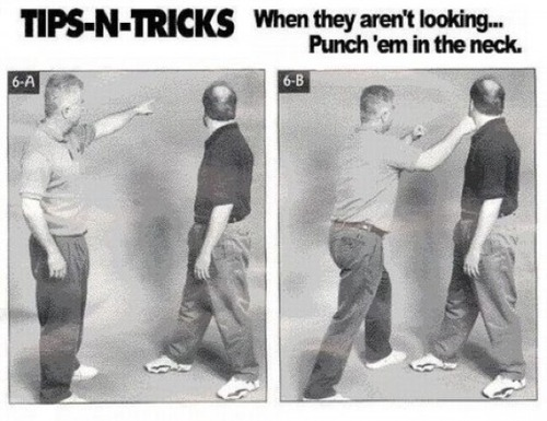 A strong tip is to punch them on the Neck when they aren't looking at you. Originally posted: November 24, 2012