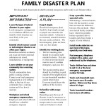 <b>PS Family Disaster Plan (6)</b>