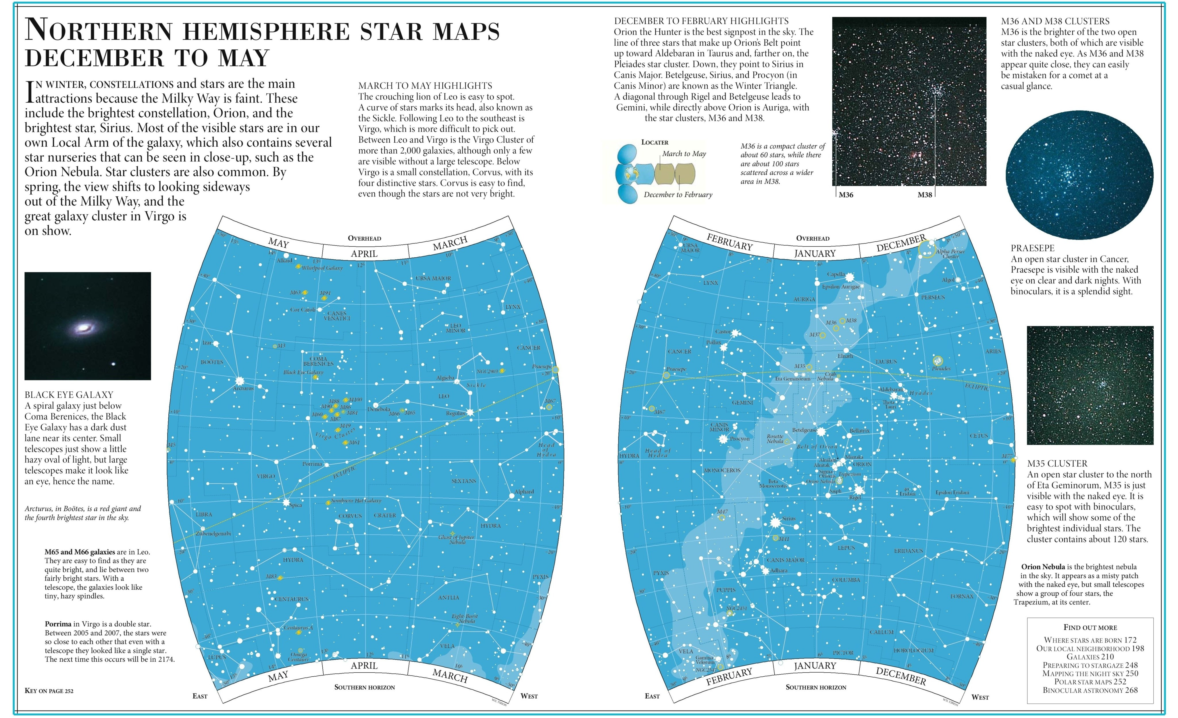 Star Map Northern Hemisphere December To May