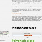 <b>Polyphasic Sleep Cycle</b>