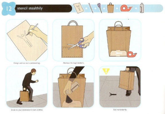 Design and cut the paper bag, remove the bag pattern, sneak as your destination, and exit