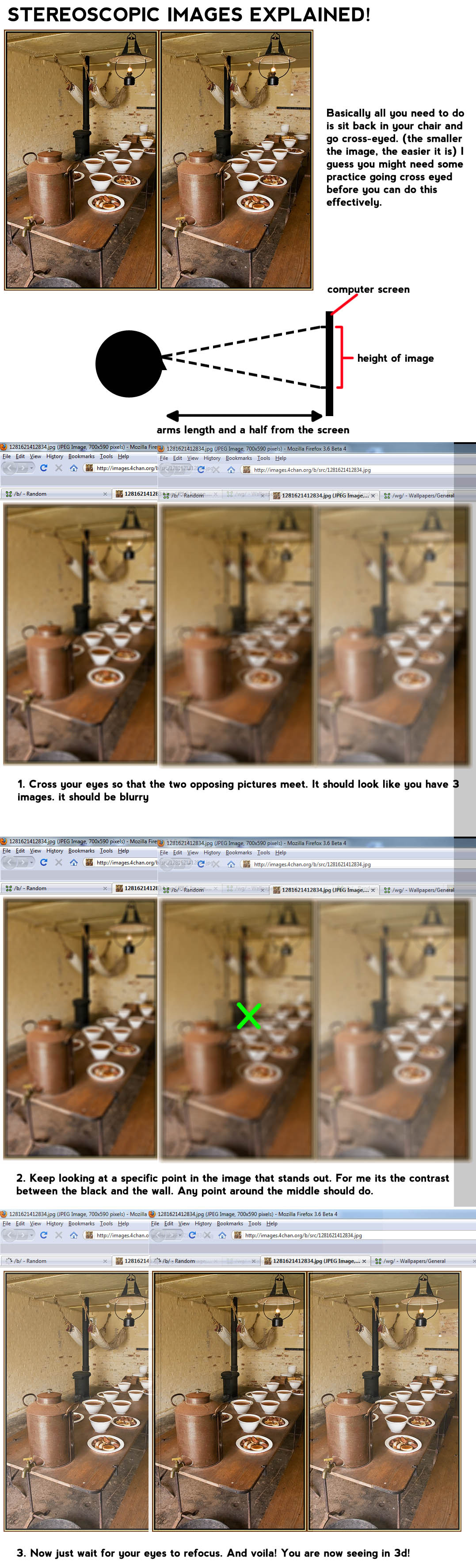 Cross your eyes until two opposing pictures meet.it should look like 3 blurry images, keep looking at specific point until an image stands out. Now just wait for your eyes […]
