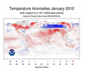 Temperature Changes 2010 Jan