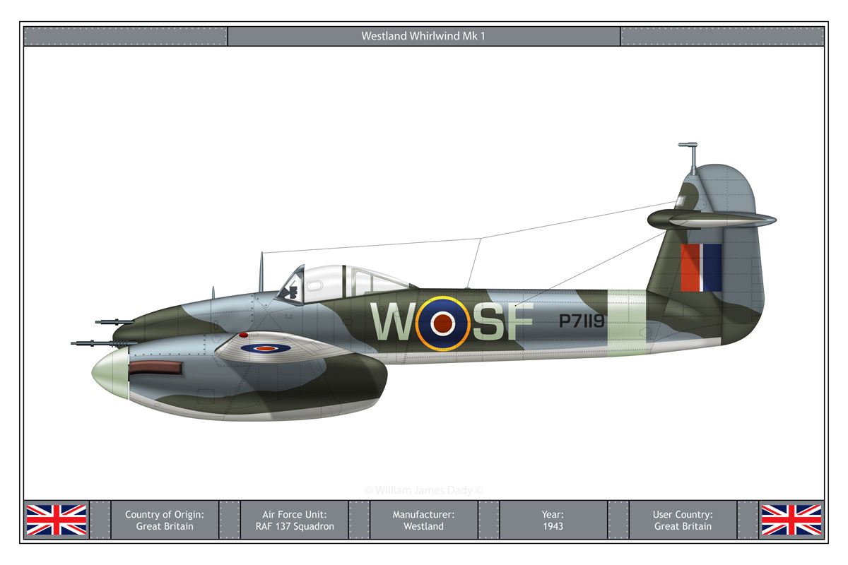 The Westland Whirlwind was a British twin-engined ample warrior advanced via Westland Aircraft. It was the Royal Air Force's first single-seat, twin-engined, cannon-furnished warrior, and a contemporary of the Supermarine […]